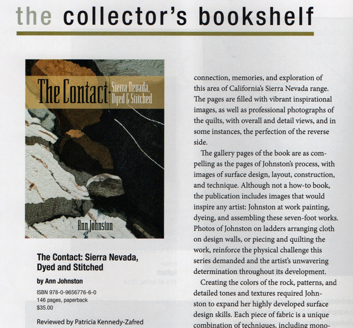 Art Quilt Quarterly review of The Contact