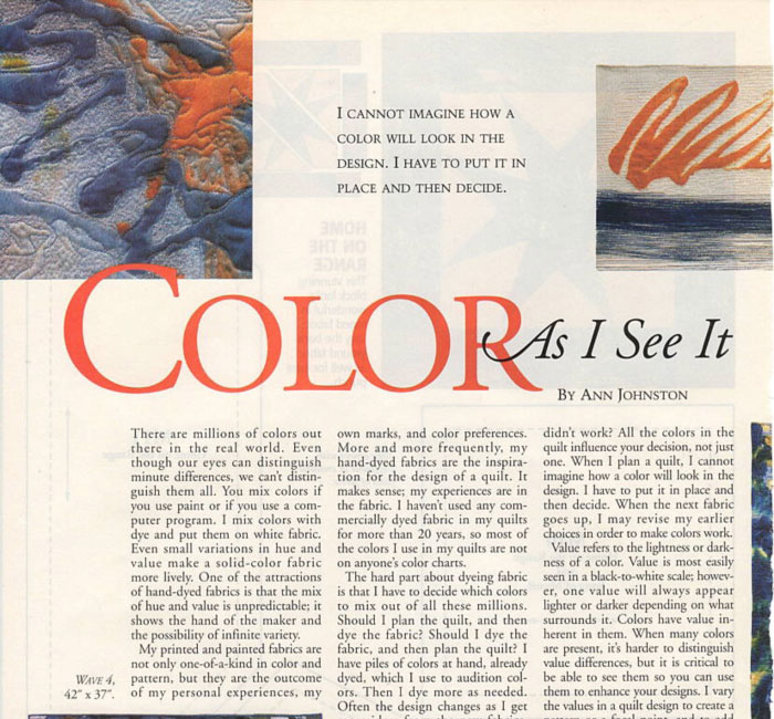 Color As I See It