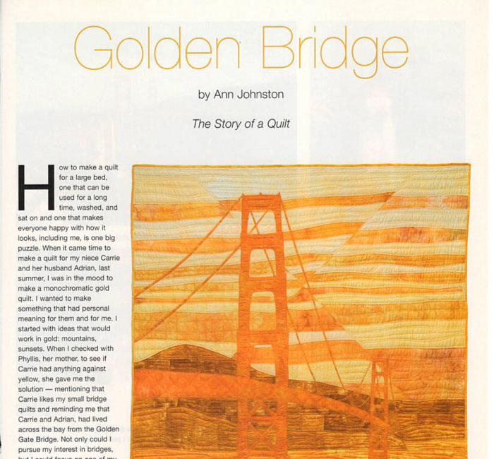 Making Golden Bridge