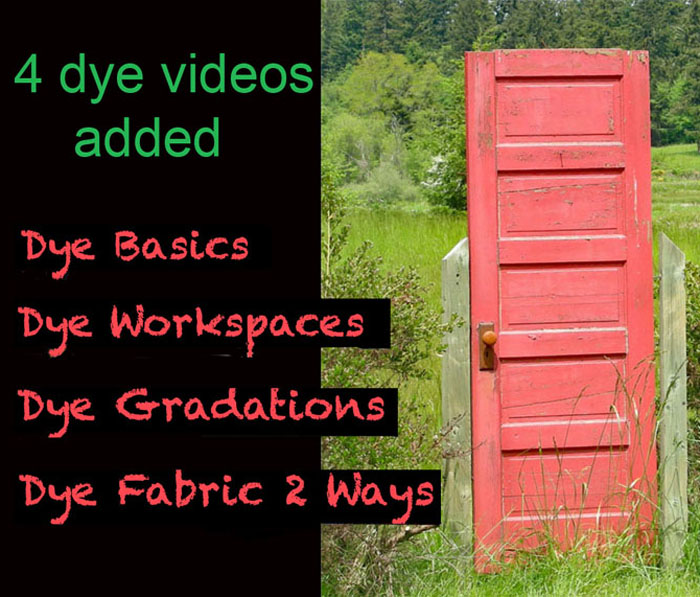 NEW VIDEOS FOR DYERS